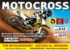 Zawody Motocross Giżycko 2019